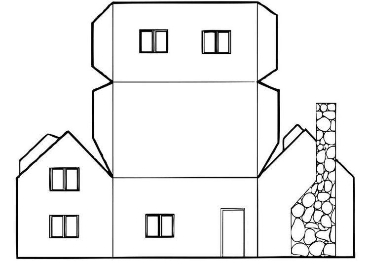 Dibujo para colorear Casa | Casas en miniatura | Pinterest ...