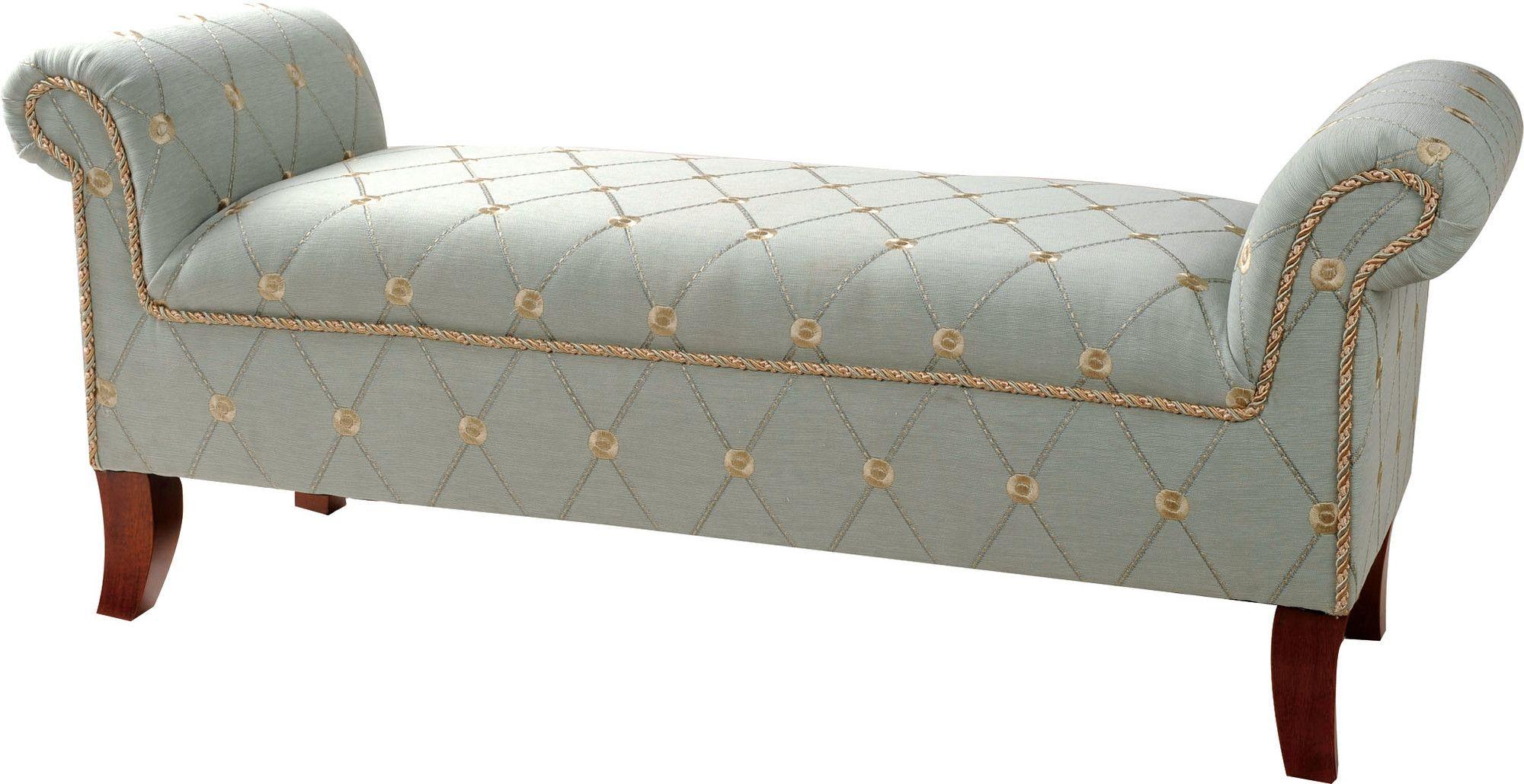 Jennifer Taylor Savannah Roll Arm Polyster Bedroom Bench & Reviews