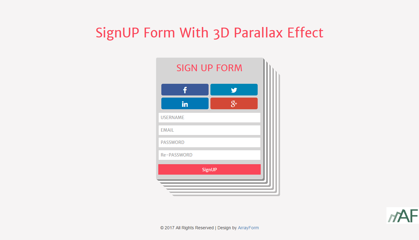 Login form sign up form with 3d parallax effect is designed by login form sign up form with 3d parallax effect is designed by arrayforma falaconquin