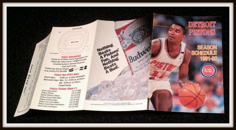 199192 detroit pistons budweiser basketball pocket