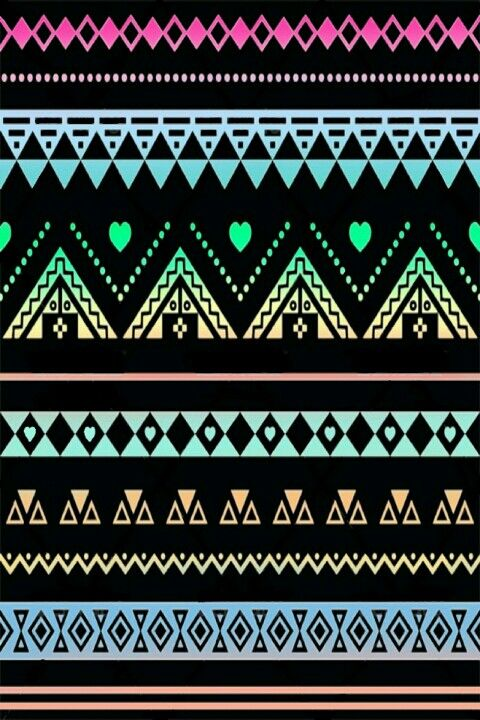 Black Neons Lacey Aztec Print Wallpaper Ok Where Else Have