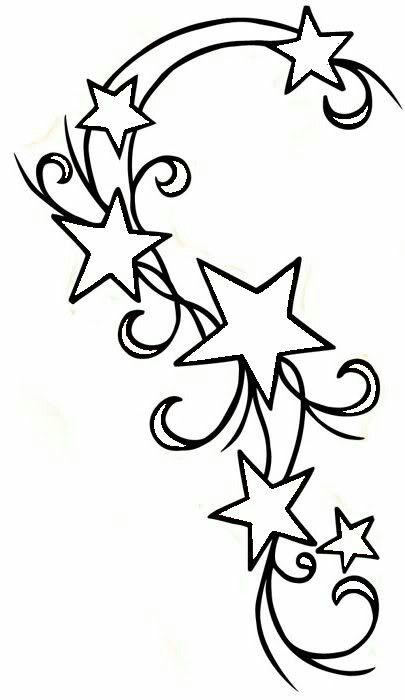 Shooting star tat