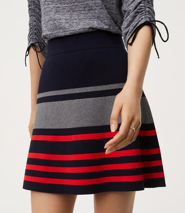 0dd06173a3d Fall Outfit Ideas - Fall Skirt - Easy breezy and oh-so-pretty navy ...