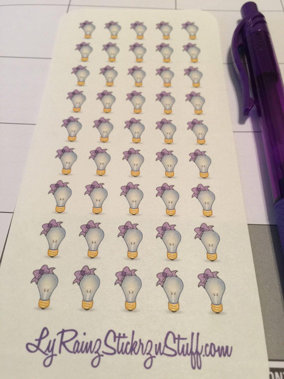 45 Small Light Bulbs for Passion Planner, Erin Condren by LyRainzStickrzNStuff on Etsy