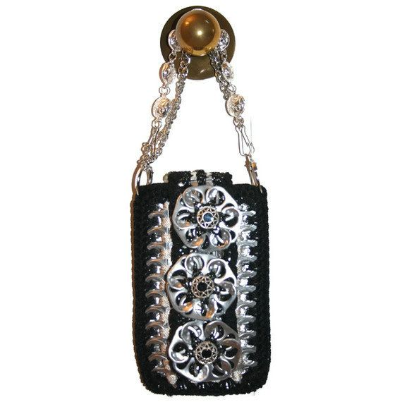 Small Crochet  Purse Made from Pop Tabs  Pouch by PopTopFashion, $75.00