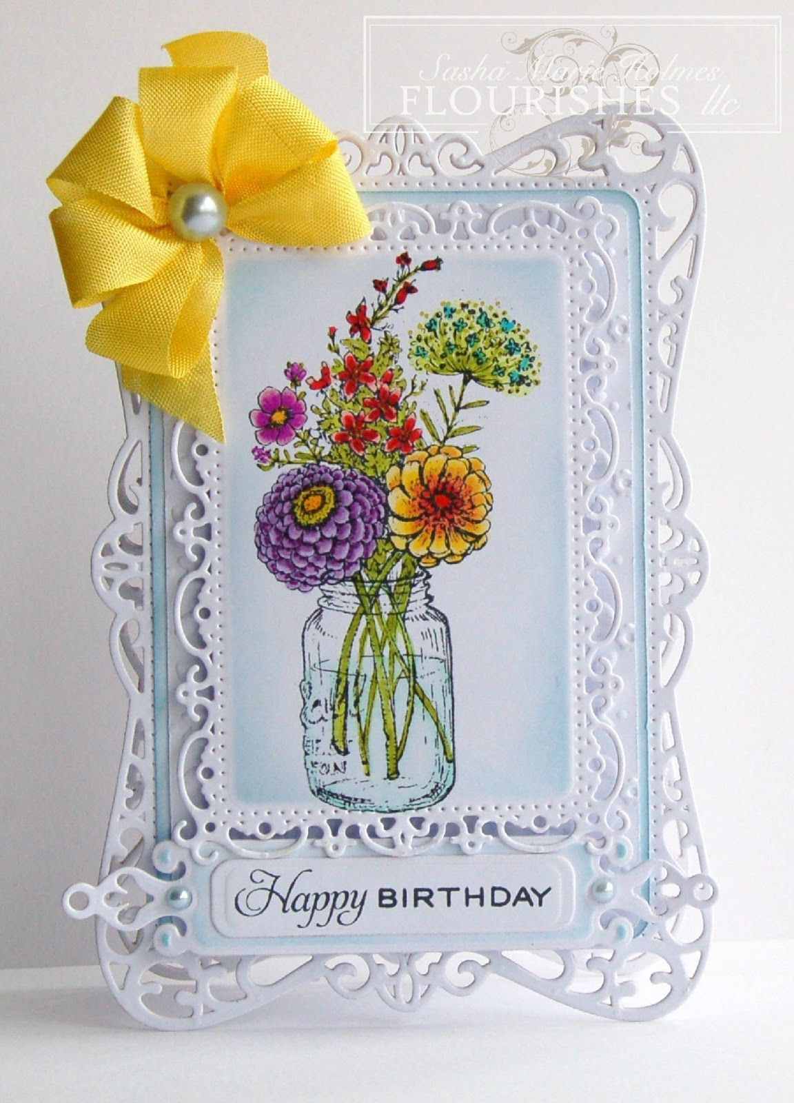 sasha's inspirations  mason jar cards greeting cards