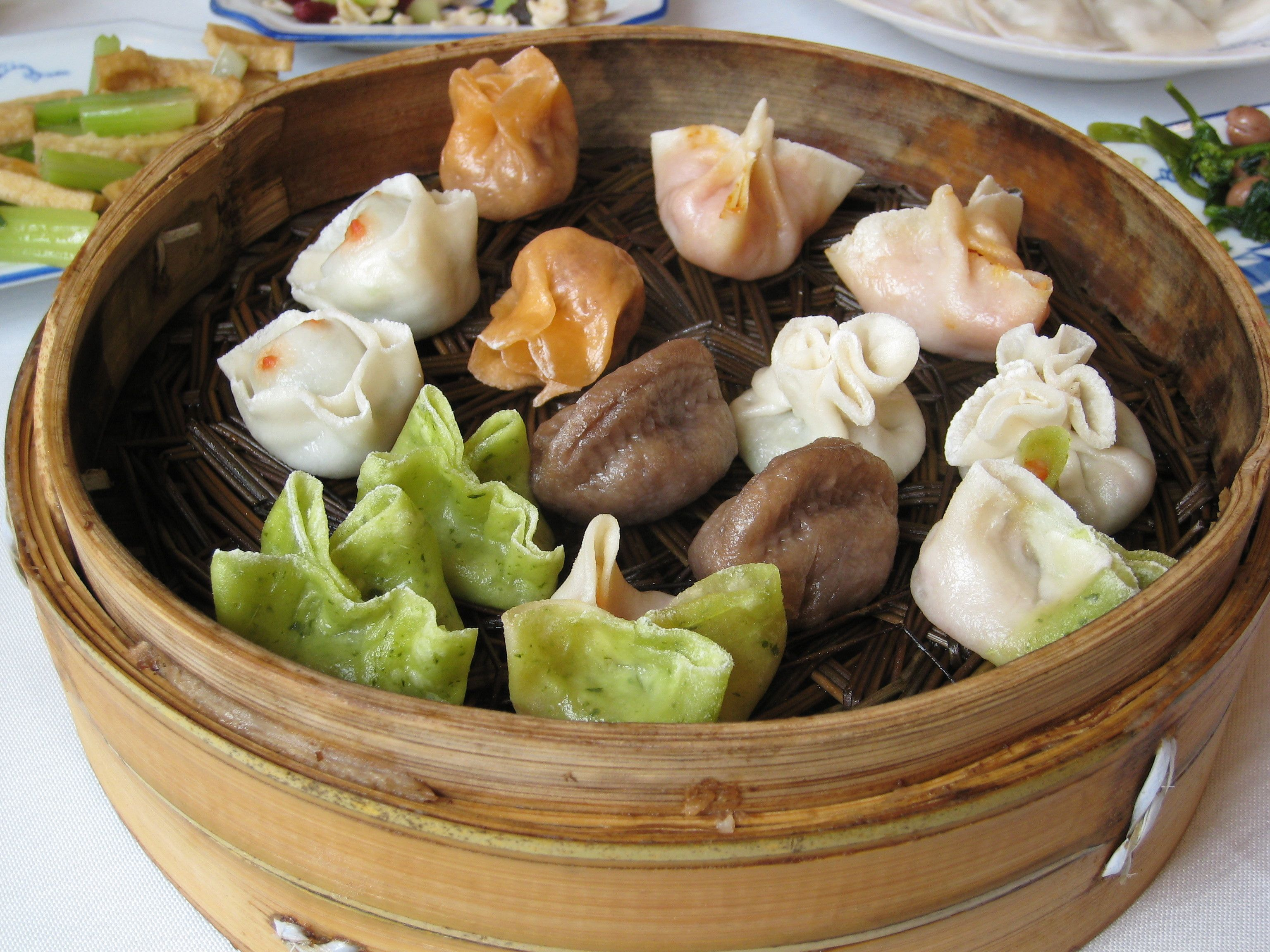 Dumblingit maistuvat Kiinassa.  #Dumbling #China #Kiina