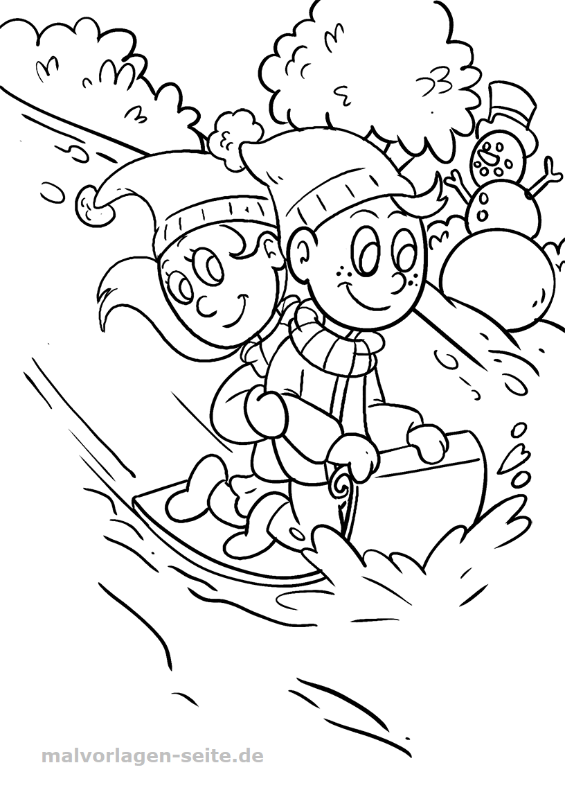 Free coloring pages for children on smalvorlagen
