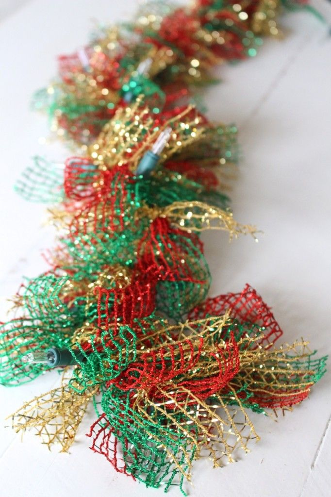 lighted dollar store christmas garland