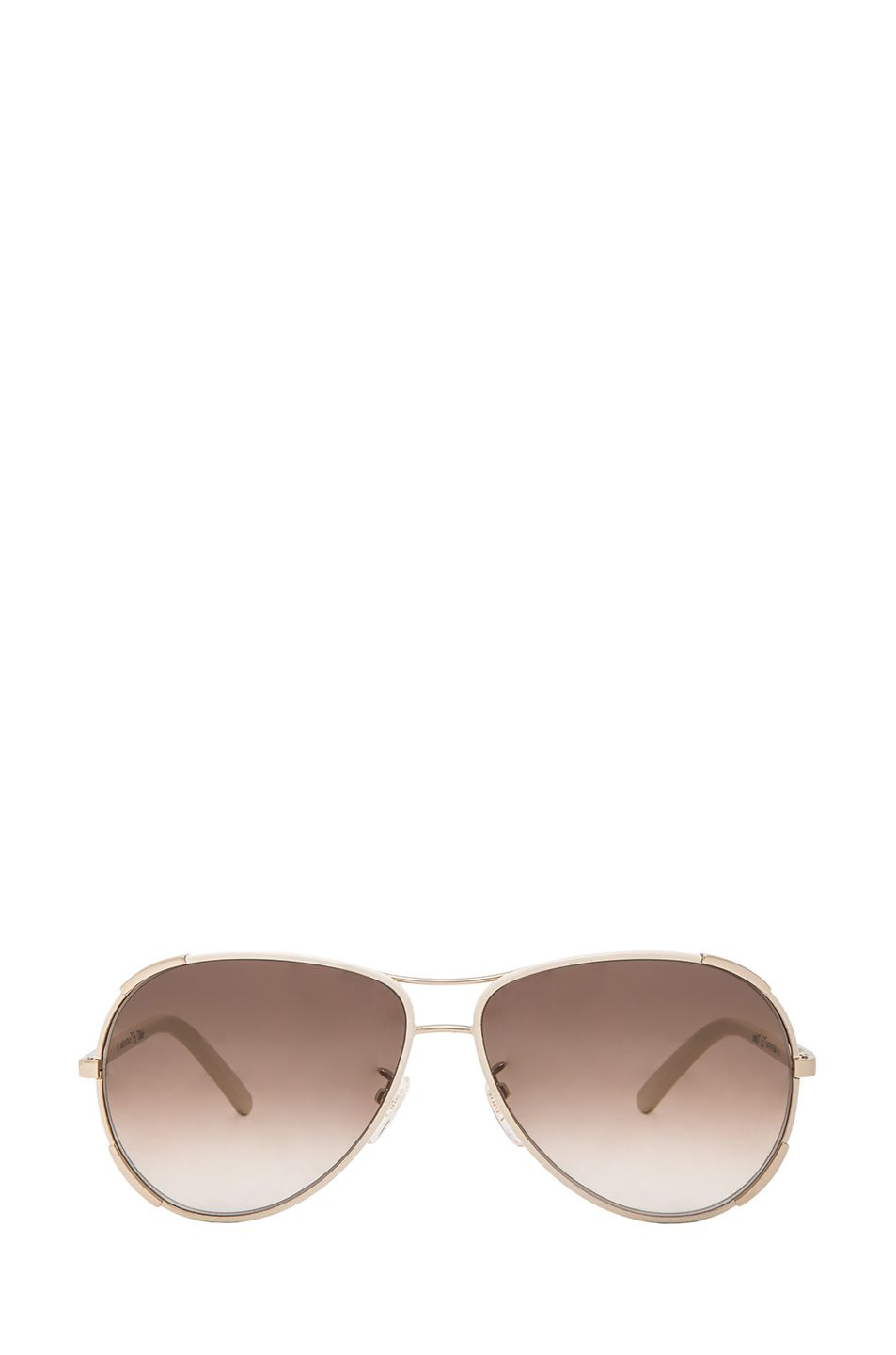 36bbe921a11 Image 1 of Chloe Nerine Sunglasses in Ivory   Gold