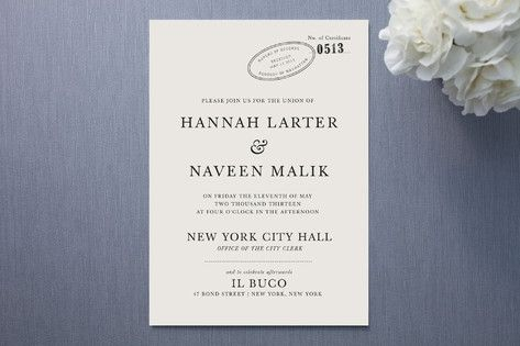 City Hall Wedding Invitations By The Social Type Wedding Stationery By Minted Loverly Wedding Planning Wedding Event Planning City Hall Wedding