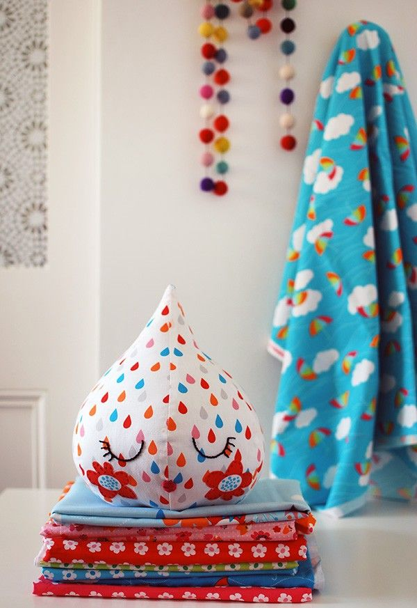 TUTORIAL: Sew a super-cute raindrop with our FREE softie pattern ...
