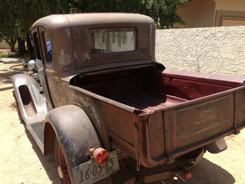 1930 1931 Ford Model A Modified Closed Cab Pickup Truck Pickup