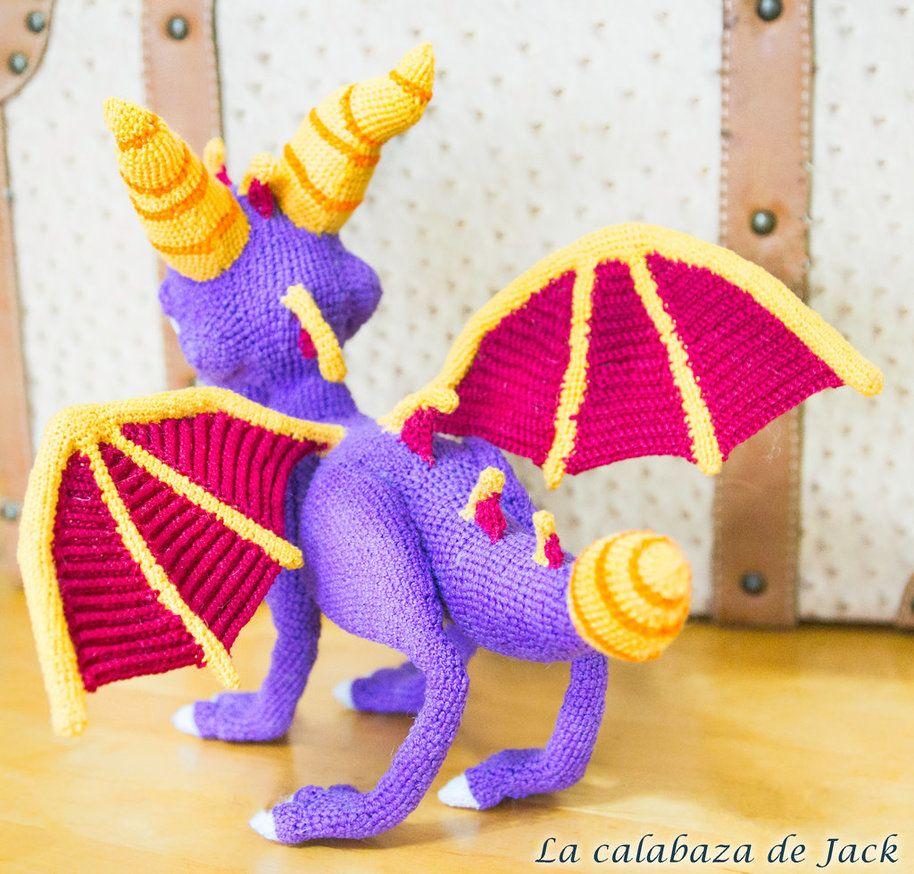 Amigurumi purple dragon Spyro. €29.99, via Etsy. | Crochet dragon ... | 874x914