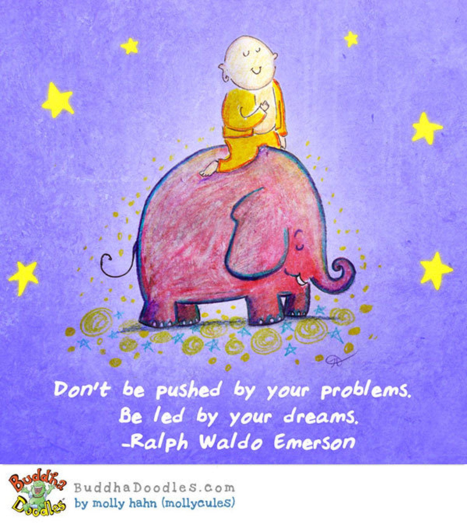 DREAM BIG [today's buddha doodle] | Buddha doodle, Buddah doodles, Buddha