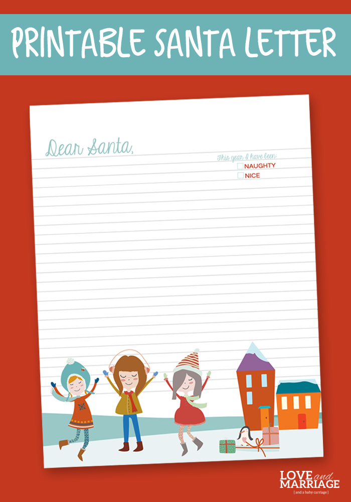 Free Printable Letter To Santa  Christmas Letters Free Printable