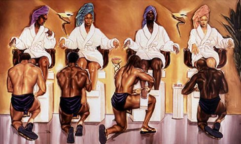 f0a4f186dcf Black Beauty Salon Art   African American Hair Salon Posters
