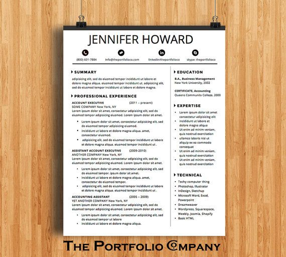Resume Template CV Template + Cover Letter Modern Resume Designs