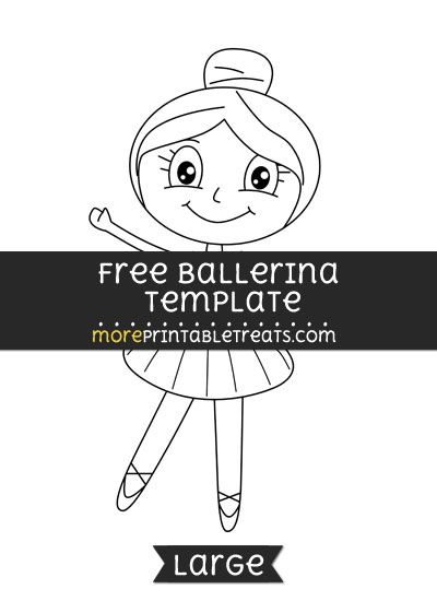 Free Ballerina Template - Large | Shapes and Templates Printables ...