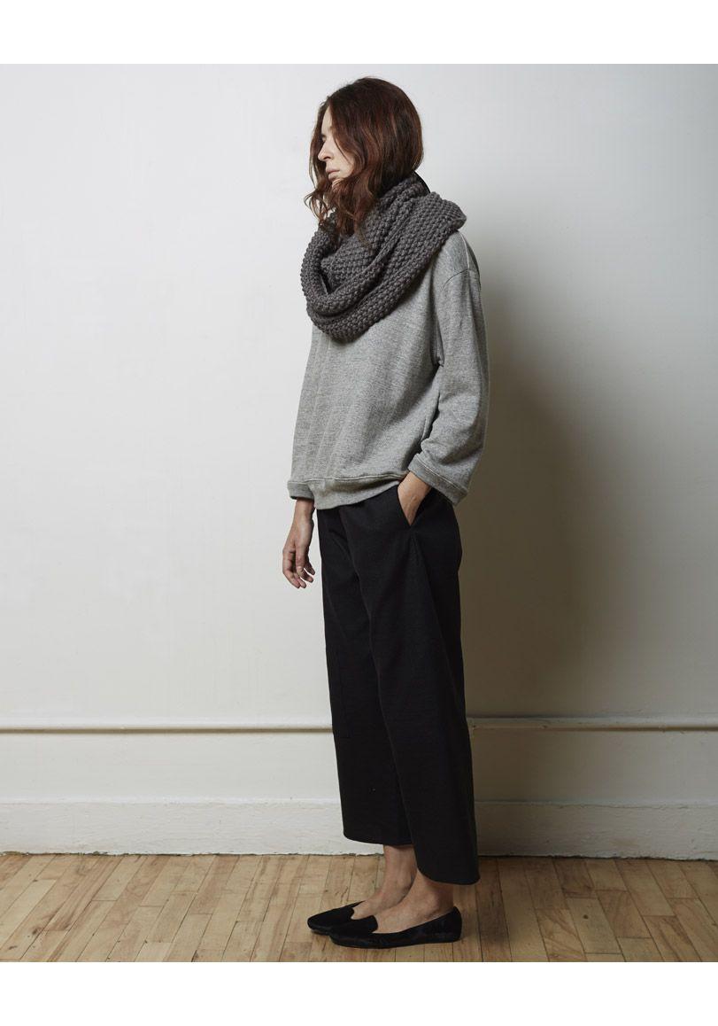 La Garçonne Moderne / Sylvia Alpaca Handknit Scarf | La ...
