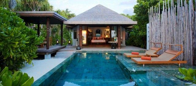 diseño oriental de jardin con piscina | piscinas | pinterest