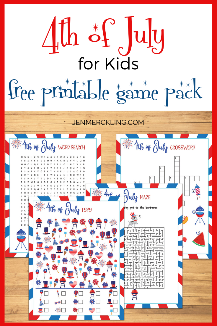 4th Of July For Kids Free Printable Game Pack 4th Of July Games Free Printable Games 4th Of July [ 1102 x 735 Pixel ]
