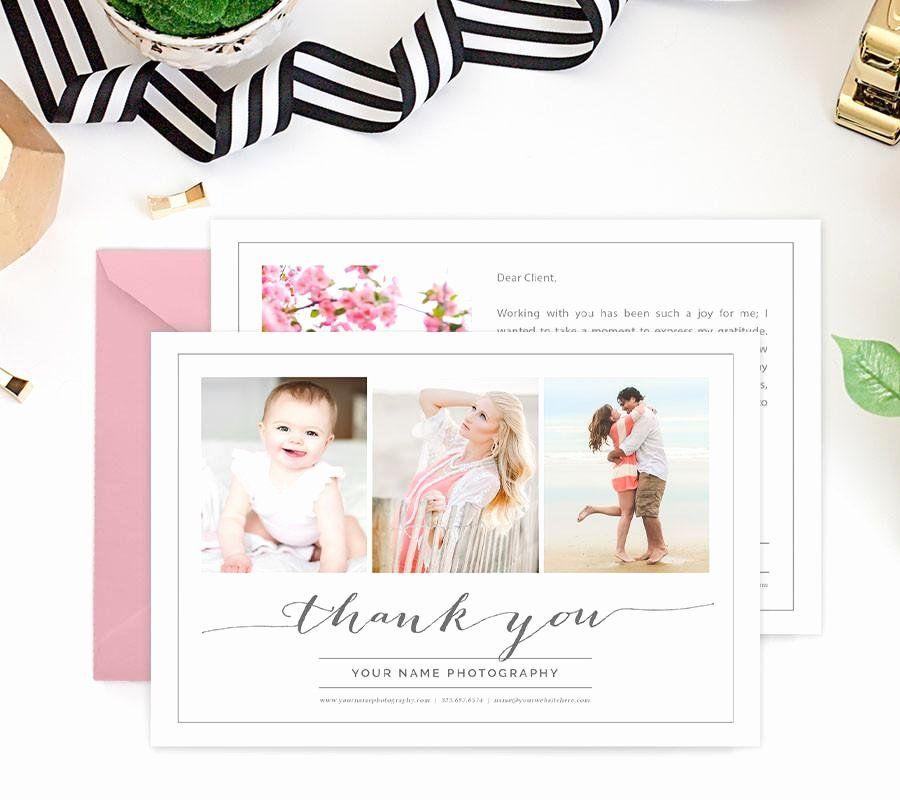 Thank You Card Photoshop Template Elegant Thank You Card Template Thank You Card Template Thank You Cards Card Templates