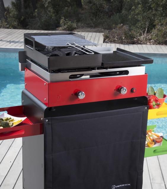 Accessoire Combine Plancha Barbecue Pour Plancha Creative 2 Feux
