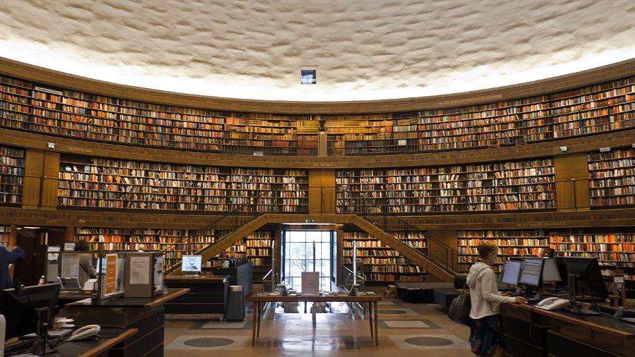 Biblioteca Pública de Estocolmo, Suecia