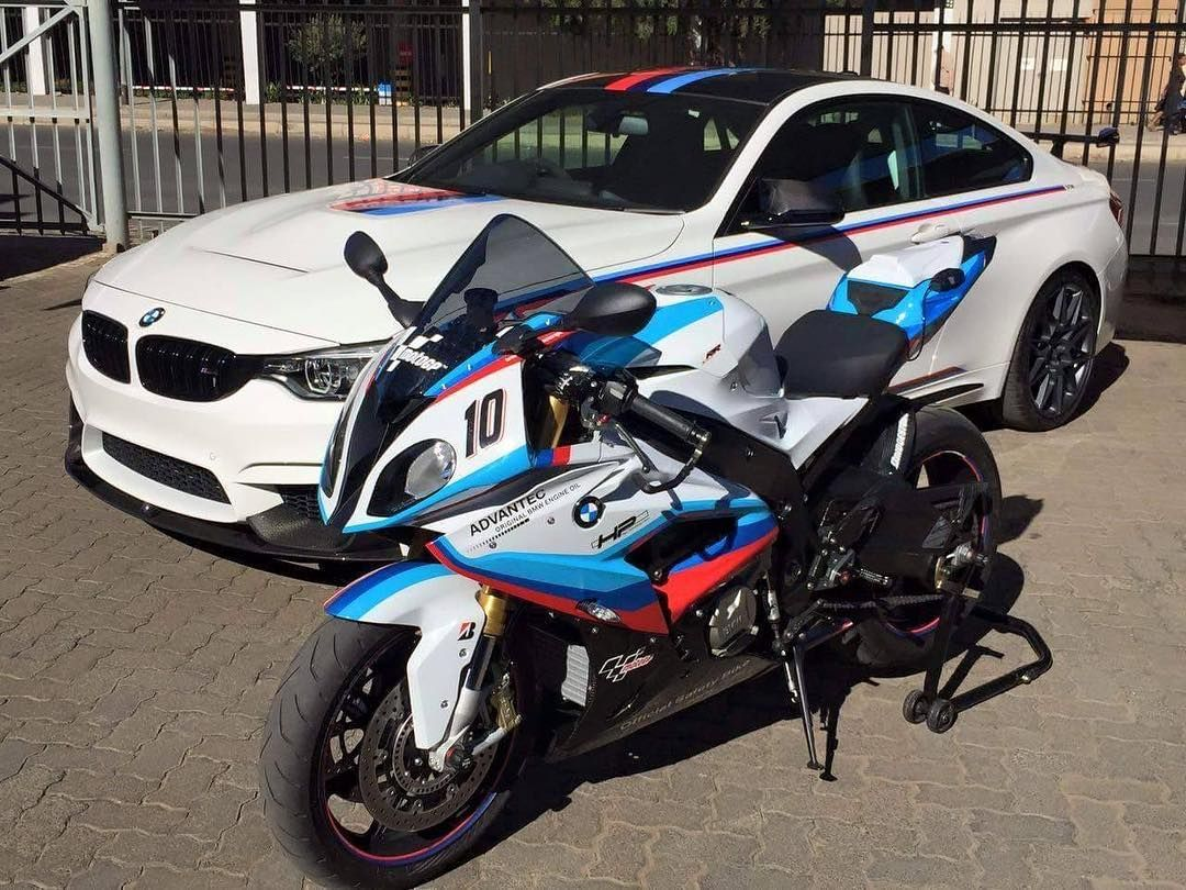 Limited Edition combo here with the BMW M4 DTM Champion Edition (1 of 15 in South Africa) and the BMW S 1000 RR MotoGP Safety Bike (1 of 15 in South Africa). Photo by Sep Coetzee #ExoticSpotSA #Zero2Turbo #SouthAfrica #BMW #M4DTM #ChampionEdition #1000RR #LimitedEdition