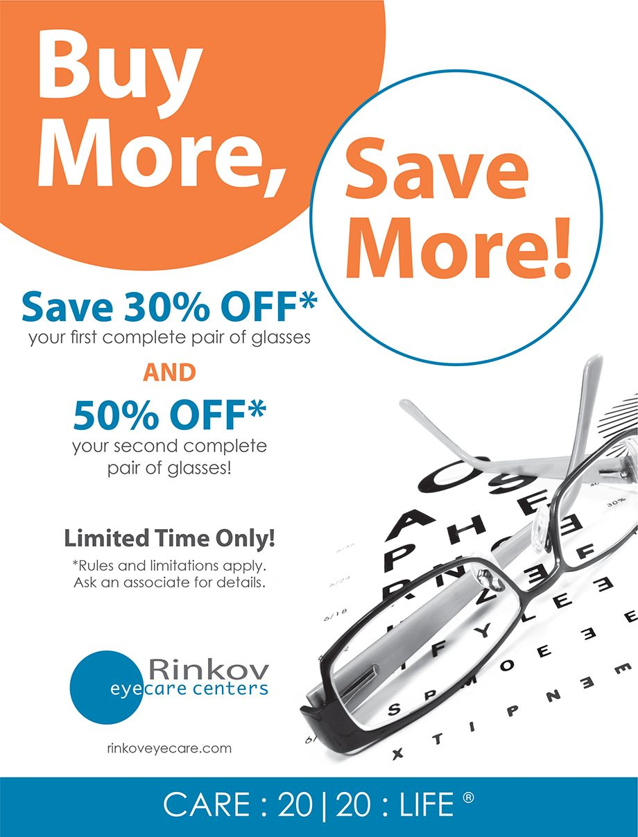 Check out these endoftheyear sales from Rinkov Eyecare