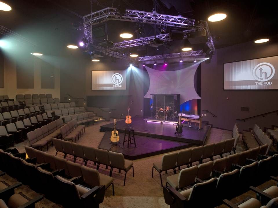 Westside Christian Church Youth Room S Projectors Lights And Speakers Provided And I With Images Church Interior Design Church Building Design Church Design Architecture