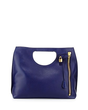 Alix Large Calfskin Shopper Tote Bag, Cobalt Blue by TOM FORD at Neiman Marcus.