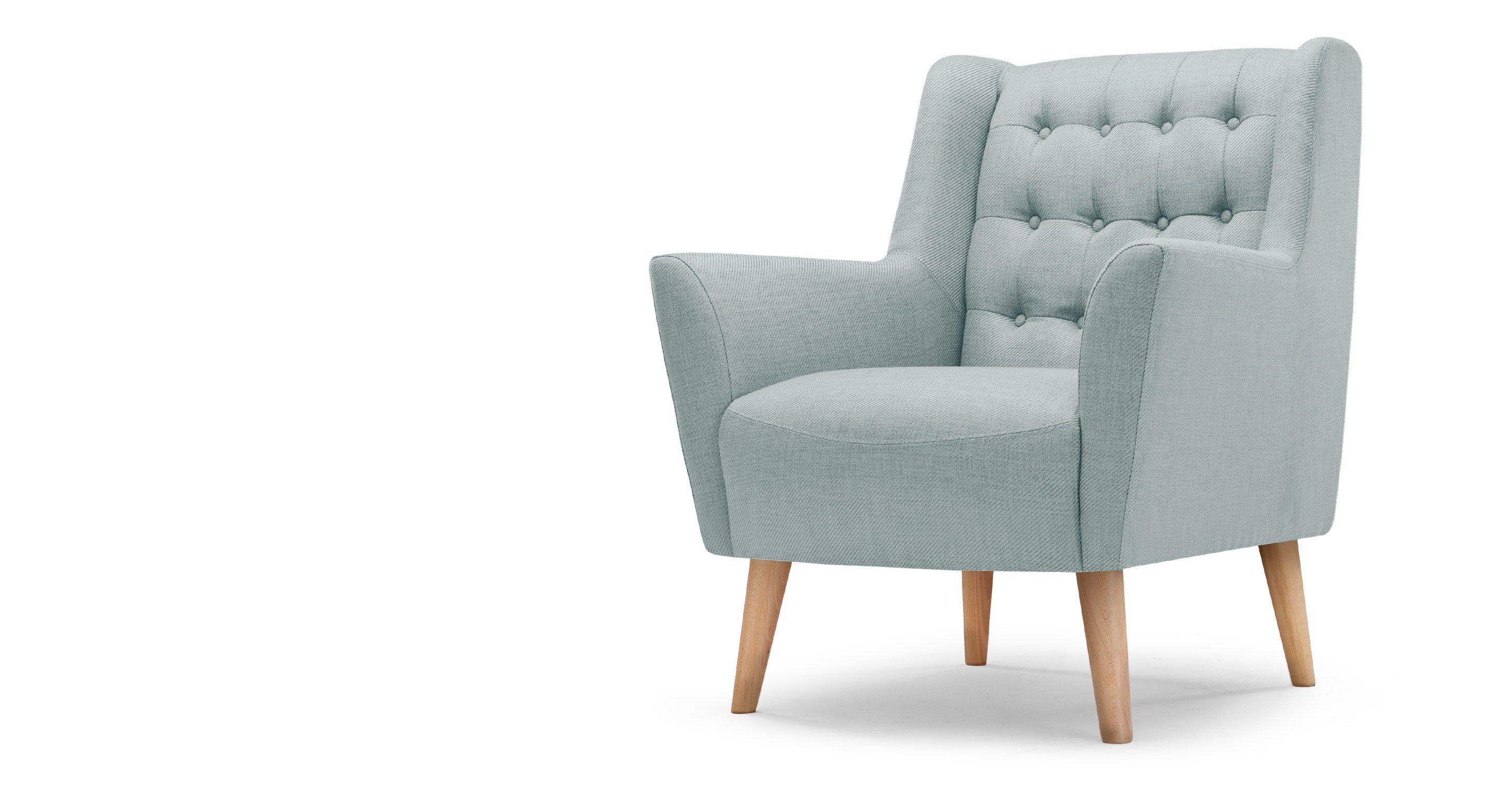 Quentin fauteuil in ijsblauw pinterest fauteuil vintage