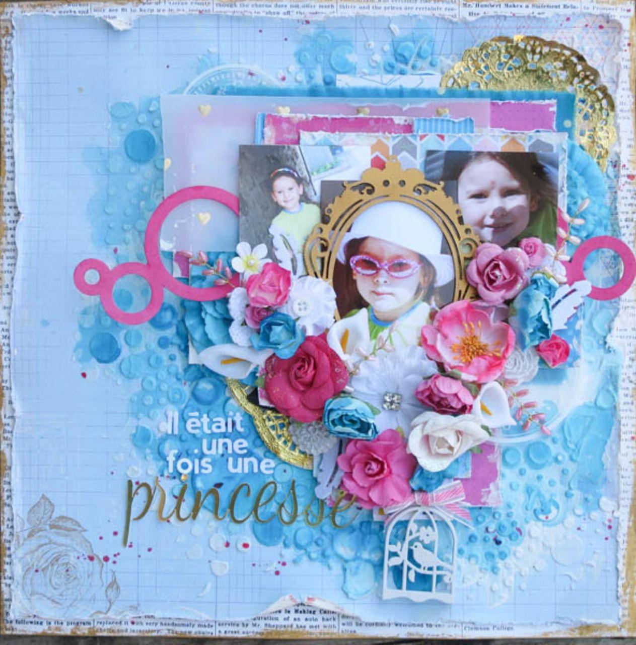 Vidéo: page Mixed Media Princesse http://www.carterieartisanale.com/blog/2014/07/30/video-page-mixed-media-princesse/