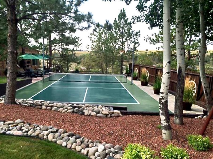 #snapsports #backyard #pickleball Court For All Your Sports. #montana  Nights Are