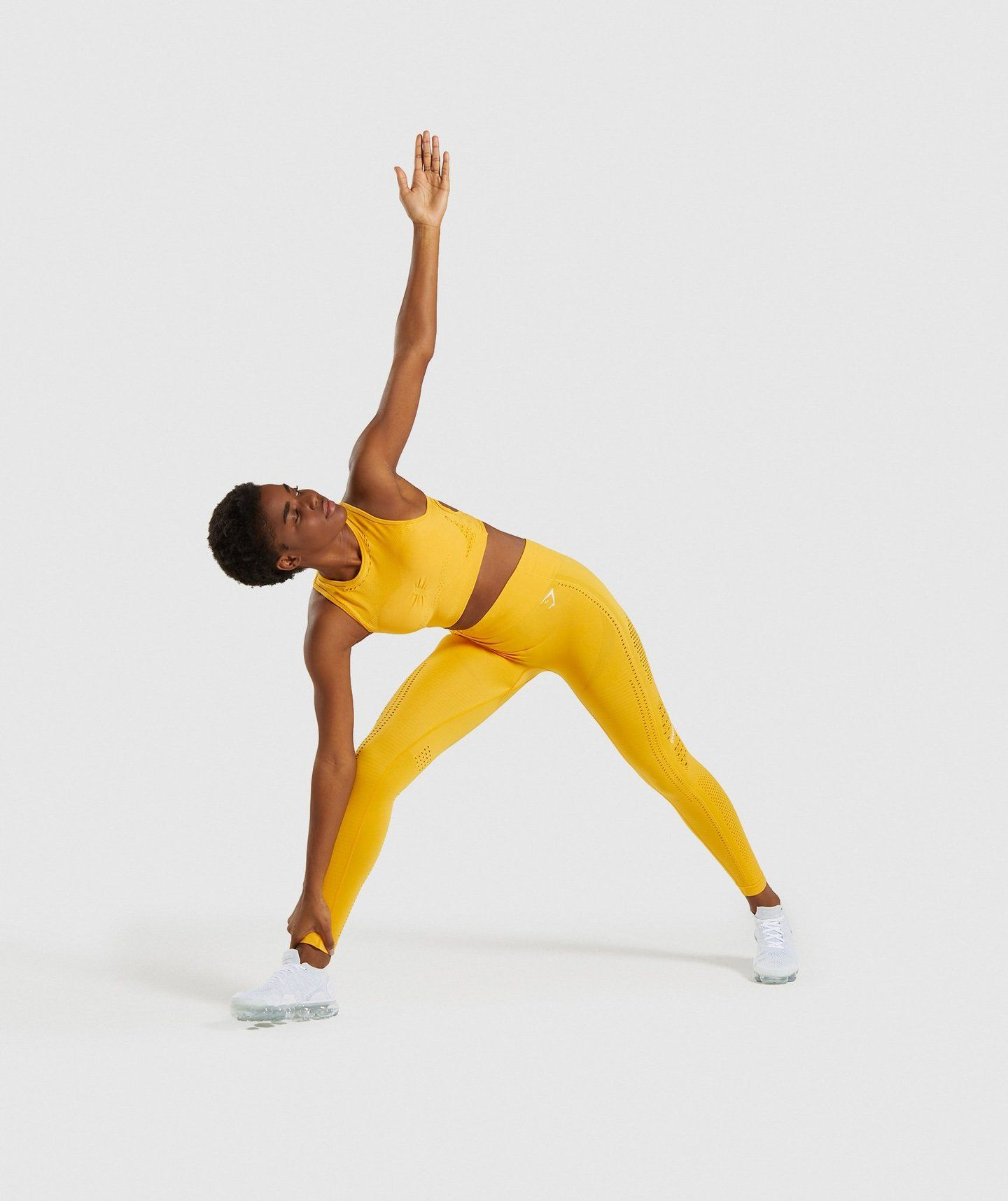 Gymshark Flawless Knit Sports Bra Yellow Gym bra, Bra