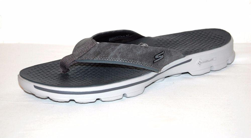 Skechers Go Walk Goga Mat Technology Gray Men S Flip Flops