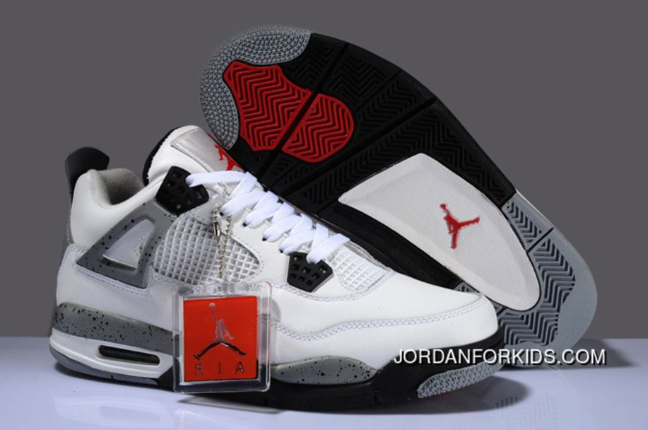 2af074f95409de Big Size Air Jordan 4 Retro White Cement Grey Discount