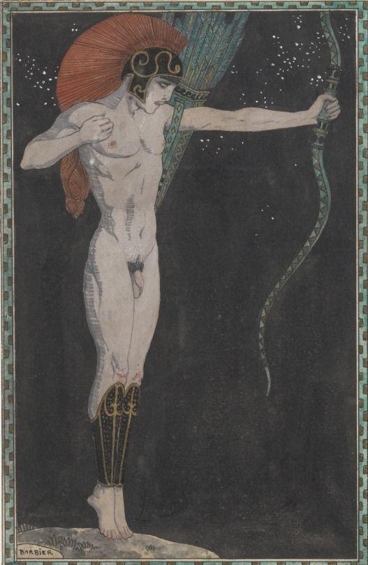 L'archer.  Art by Georges Barbier.(1882-1932).