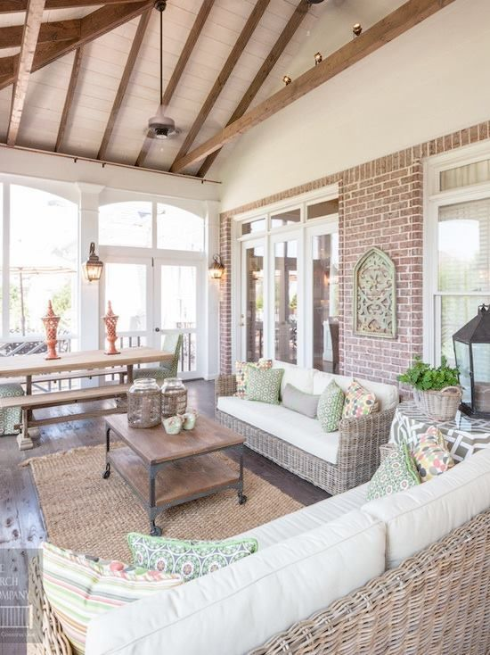 As Summer Draws To A Close Bring The Outdoors In With Images Home Decor Home Porch Design