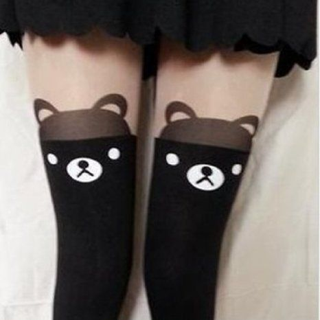 Women Cute Cat Bear Over Knee Socks Stocking Tight Hosiery Tattoo Pantyhose Ninimour, http://www.amazon.de/dp/B00EYXPCHA/ref=cm_sw_r_pi_dp_TSNvtb1SC5CKF