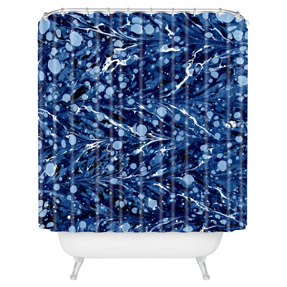 Fleck Circle Shower Curtain Blue Deny Designs Products