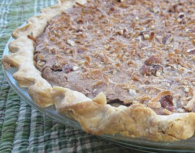 German Chocolate Pie. This recipe is from my Twin's Blog... Cooking with K.  This is our mother's recipe. One of our many favorites.