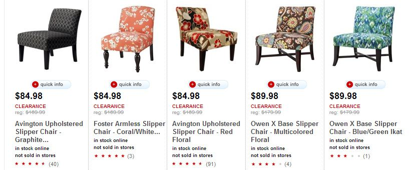 Wonderful Target Furniture Clearance U2013 Upholstered Slipper Chairs As Low As $66.39  Shipped!