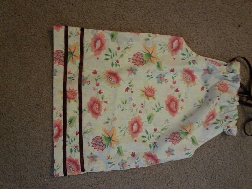 Pillow case Dress I made for LDFA (http://www.littledressesforafrica.org/blog/pillow-case-pattern/) :) Can't wait to make more
