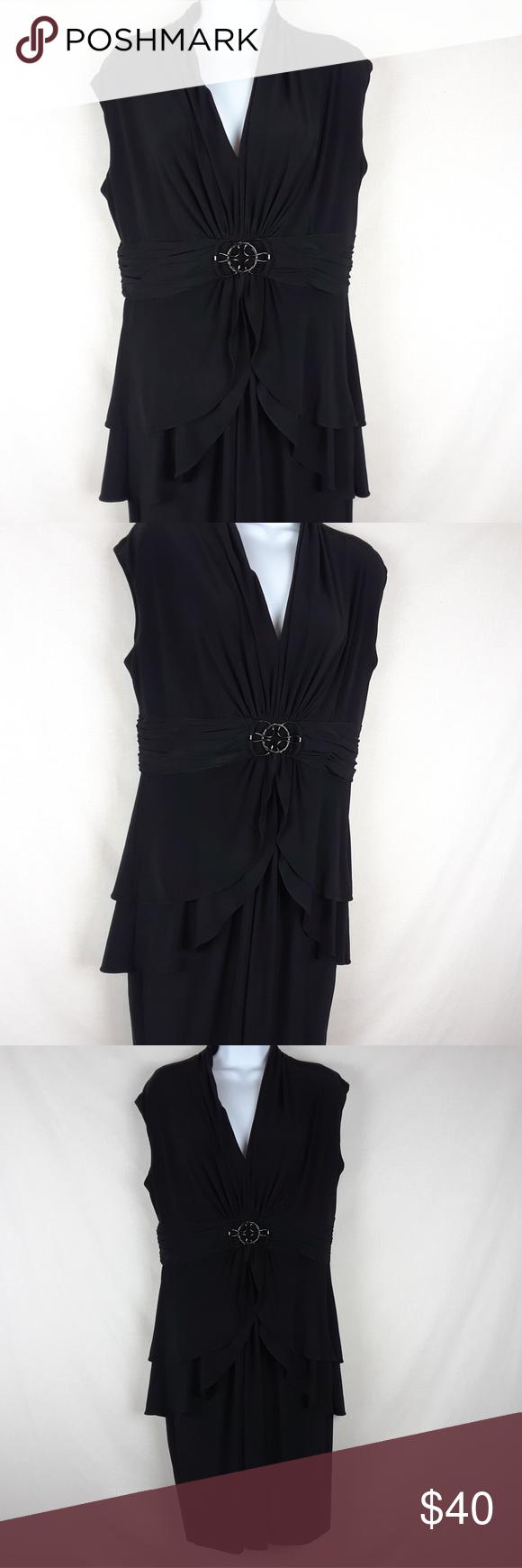 Jones New York Black Dress Occasion Size 14 Dresses Clothes Design Black Long Sleeve Dress [ 1740 x 580 Pixel ]