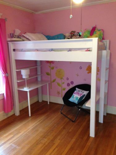 Twin Size Loft Bed And Desk Plans And Instructions Ebay Twin
