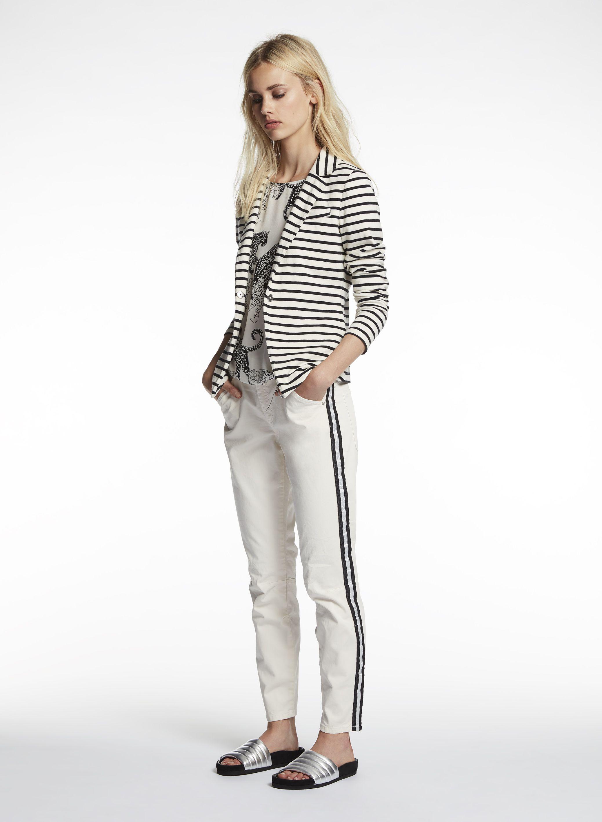heine TIMELESS Hose mit Seitenstreifen taupe im heine Online Shop kaufen