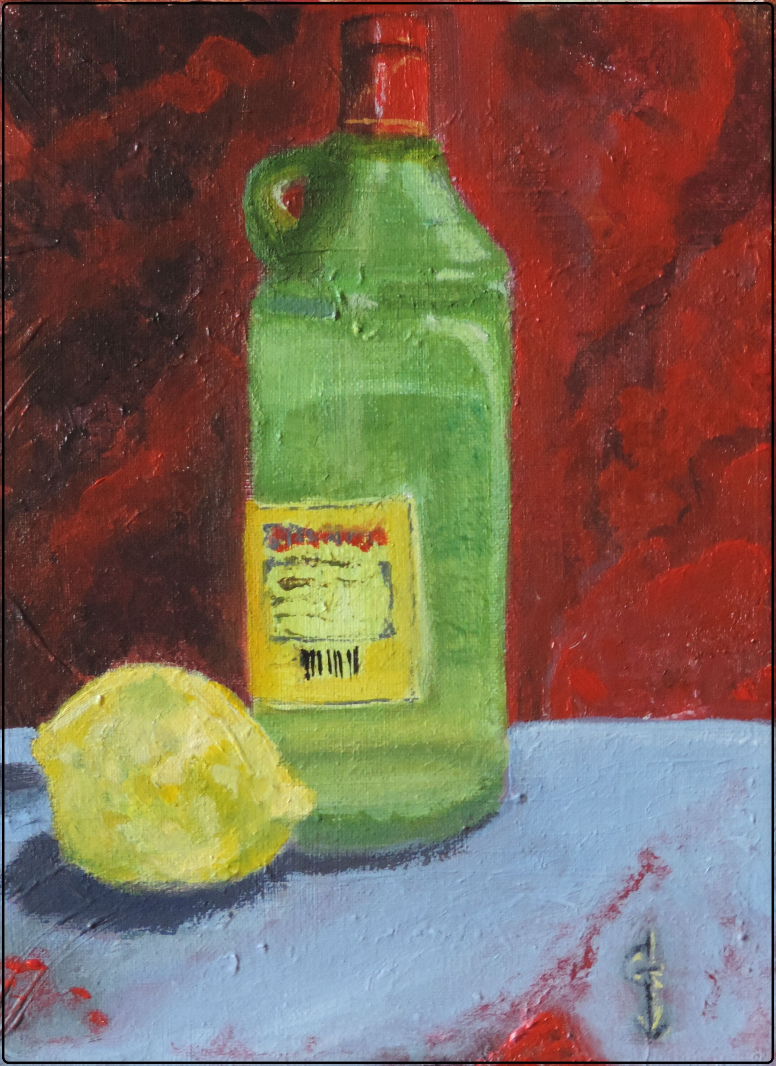 Gin & Lemon 18 x 24 Acrílic by Gori Angelats